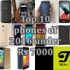 Top 10 phones 2016 under Rs 7000 [July Updated]
