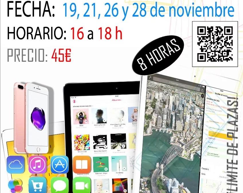 Curso iPhone / iPad 19, 21, 26 y 28 Noviembre