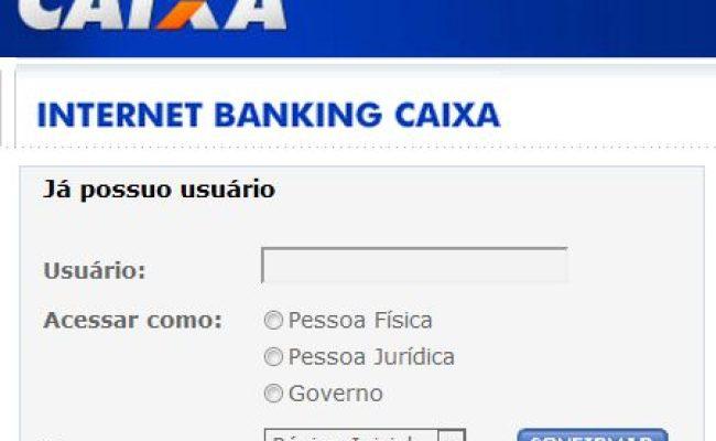 Caixa Internet Banking Teclando Tudo