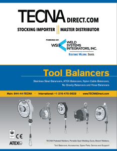 TECNA Balancers Overview Brochure | TECNADirect.com