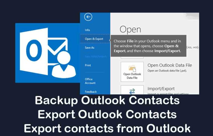 Backup Outlook Contacts - Export Outlook Contacts | Export contacts from Outlook