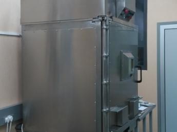 Celda de sintesis con blindaje macizo de plomo