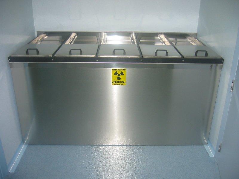 Contenedor de residuos para emisores gamma