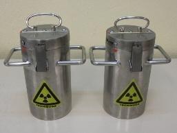 Contenedores para fuentes radiactivas