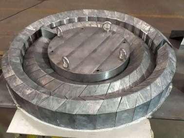 Ladrillos de plomo circulares de bajo fondo