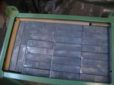 Ladrillos de plomo de bajo fondo