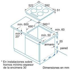 Cocinas vitroceramicas y encimeras Balay