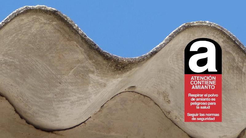 placa cartel amianto