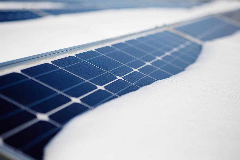 La energía solar fotovoltaica en las nevadas