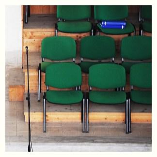 Sedia in tessuto da chiesa