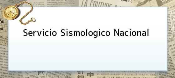 Servicio Sismologico Nacional En México 38 Sismos Por