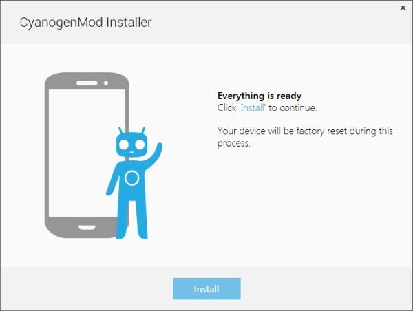 Instalador do Cyanogen