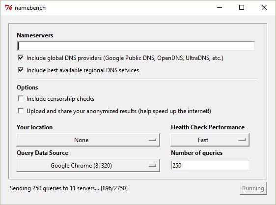 namebench test - Tutorial: Altere as configurações de DNS e acelere sua conexão
