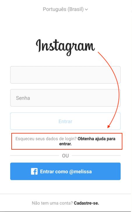 Obtenha Ajuda Instagram Conta Invadida