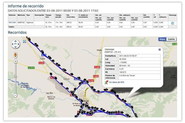 GPS en quitanieves
