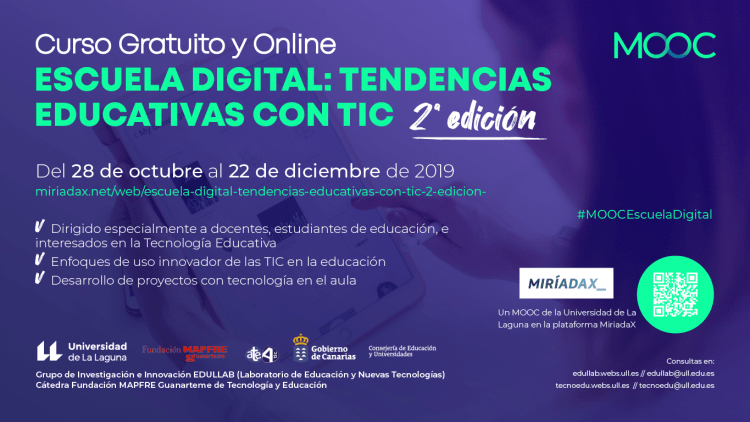 MOOC Escuela Digital: Tendencias educativas con TIC