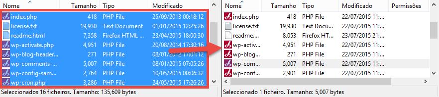 16 ficheiros