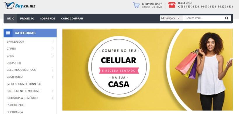 Lojas online em Moçambique
