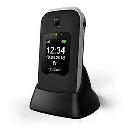 Teléfono móvil con Tapa para Personas Mayores, Teclas Grandes, Isheep SG220 gsm, Pantalla de 2,4 Pulgadas, tecla de Emergencia, cámara, Negro