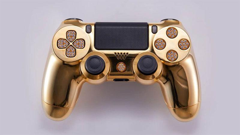 Controle de PlayStation 4 banhado a ouro custa US$ 14.000
