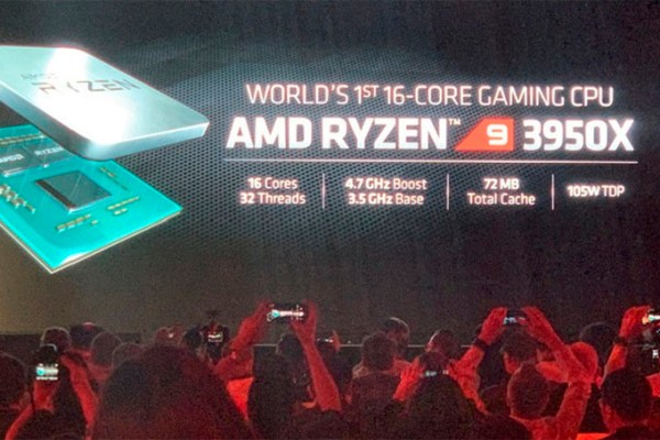 AMD anuncia poderoso processador Ryzen 9 3950X de 16 núcleos para computador