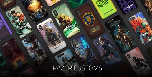 Su Razer.com i gamer possono creare la cover dei propri sogni, con grafiche dei videogiochi preferiti e altre opzioni di personalizzazione