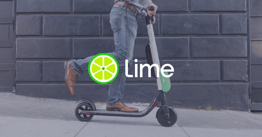 I monopattini elettrici Lime disponibili sull'app Uber a Torino