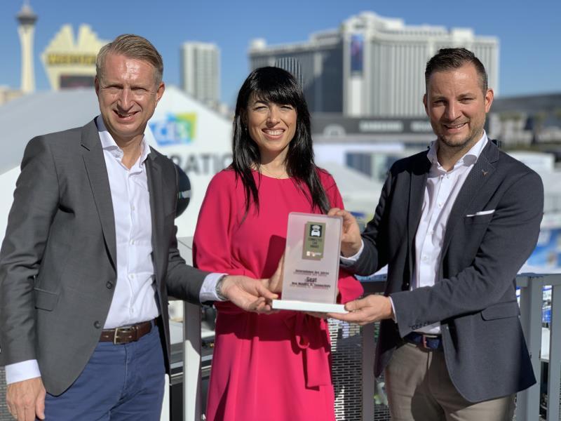 SEAT riceve il premio Azienda dell'anno al CES 2020