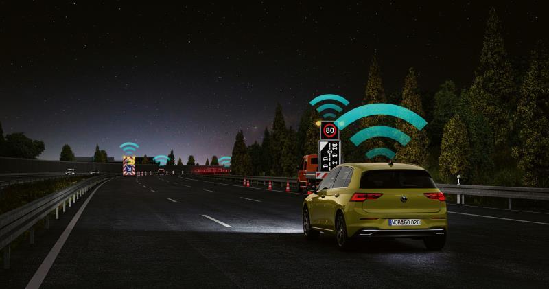 La nuova Golf è la prima auto in Europa a essere equipaggiata di serie con Wi-Fi p