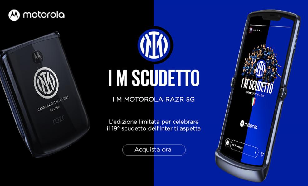Motorola dedica all'Inter campione d'Italia un'esclusiva limited edition di razr 5G