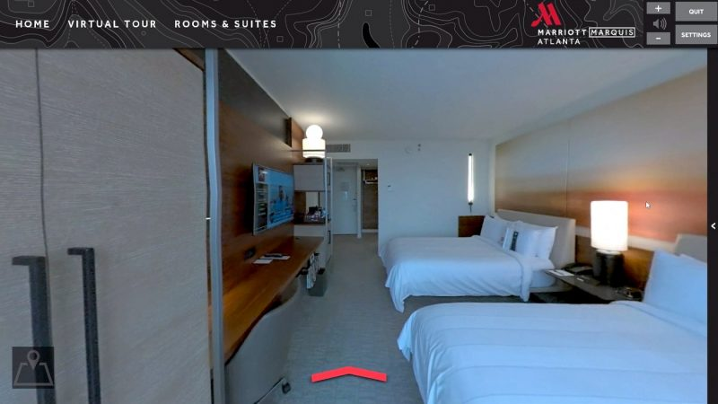 marriott gaming virtual reality hotel video game