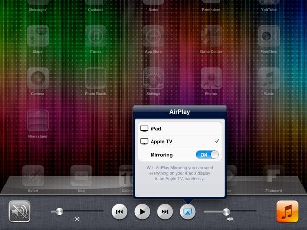 Reflejo de Airplay del iPad