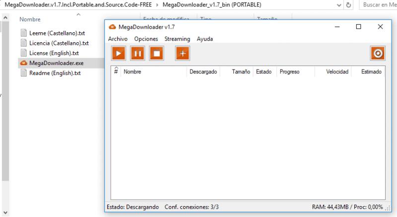 MegaDownloader 1.7 Portable