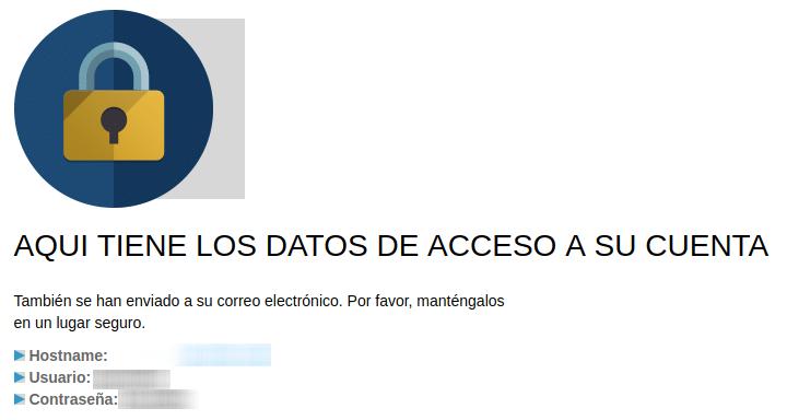 datos de acceso a mailrelay