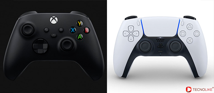 Mando de PS5 Vs Xbox Series X.