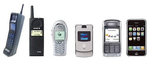 Evolución de los celulares