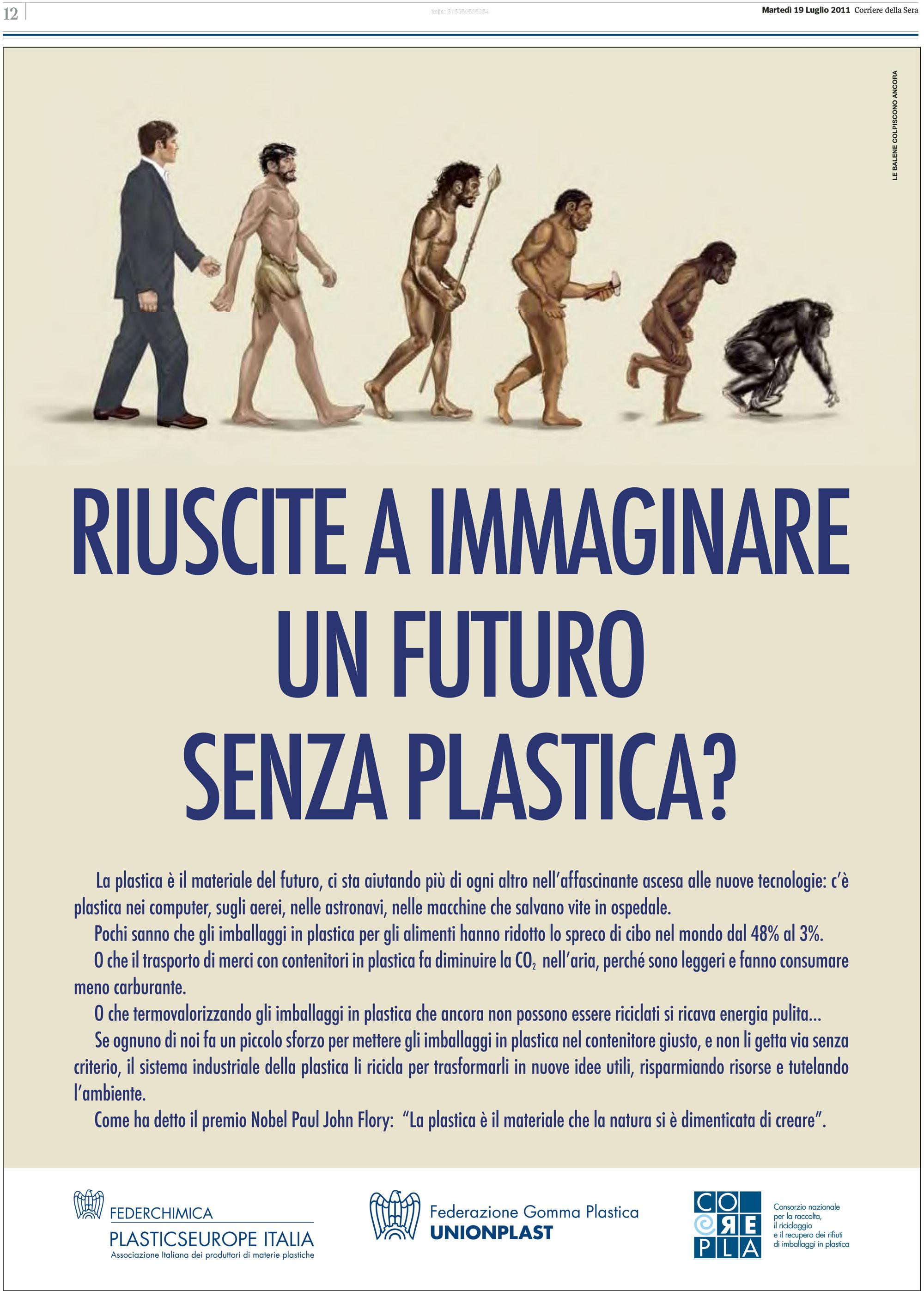 Riuscite ad immagine un futuro senza plastica