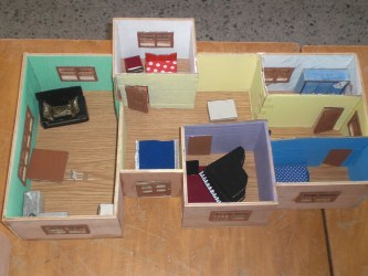 casas dentro maquetas por