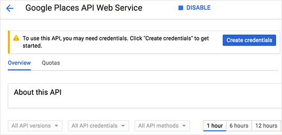 Get API credentials