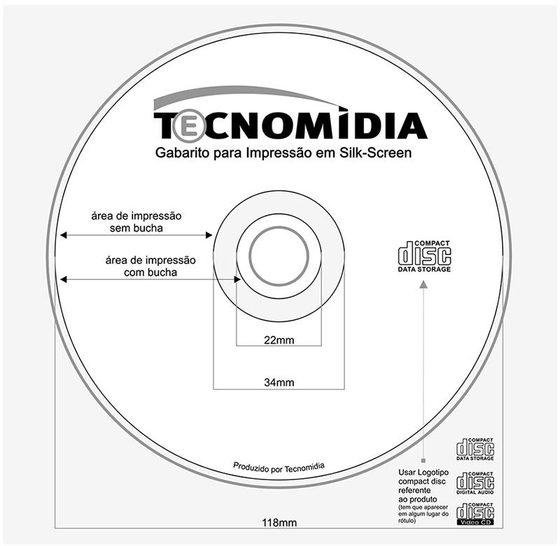 Serviços de Impressão de mídia 3 cores em CD ou DVD em