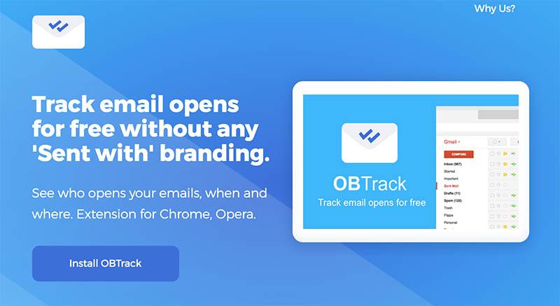OBTrack, otro servicio gratuito para monitorear si abren nuestros mails