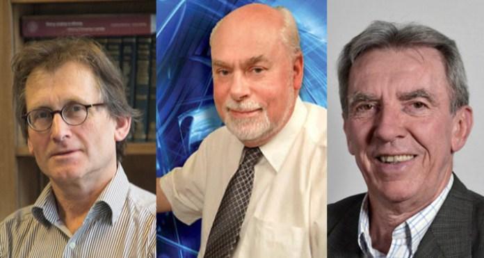 El holandés Bernard L. Feringa, el escocés Sir J. Fraser Stoddart y el francés Jean-Pierre Sauvage han obtenido el Premio Nobel de Química de este año. / Isis.unistra.fr/Stoddart.northwestern.edu/Wiki