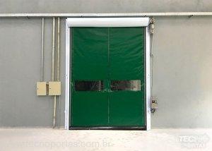 porta flexível de plastico Porta Rápida de Enrolar