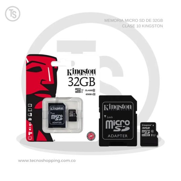 MEMORIA MICRO SD DE 32GB CLASE 10 KINGSTON