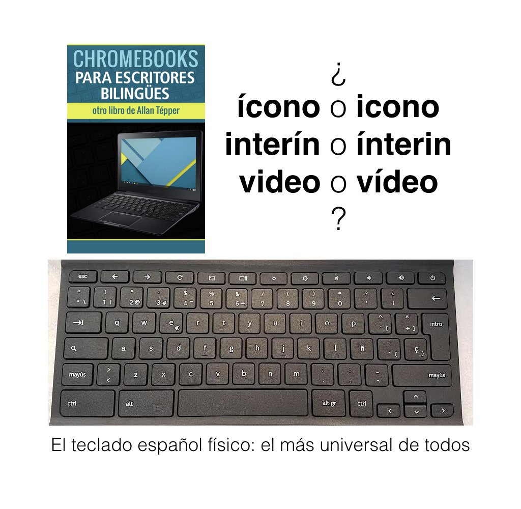 Ventajas del teclado español/nuevo libro Chromebooks para escritores bilingües/interrogación invertida