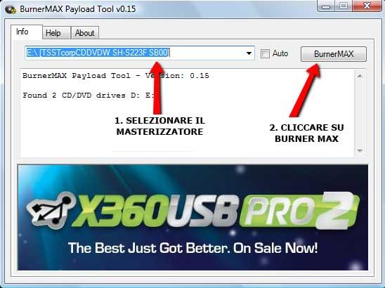 IMPOSTAREBURNERMAX PLAYTOOL 2 [Guida] Installare Burner max su tutti i masterizzatori con Playload
