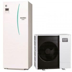 Pompe a chaleur PAC air Eau Mitsubishi avec ECS