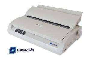foto diagonal da impressora mostrando os botões táteis