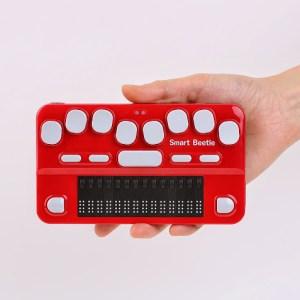 Linha braille na palma da mão