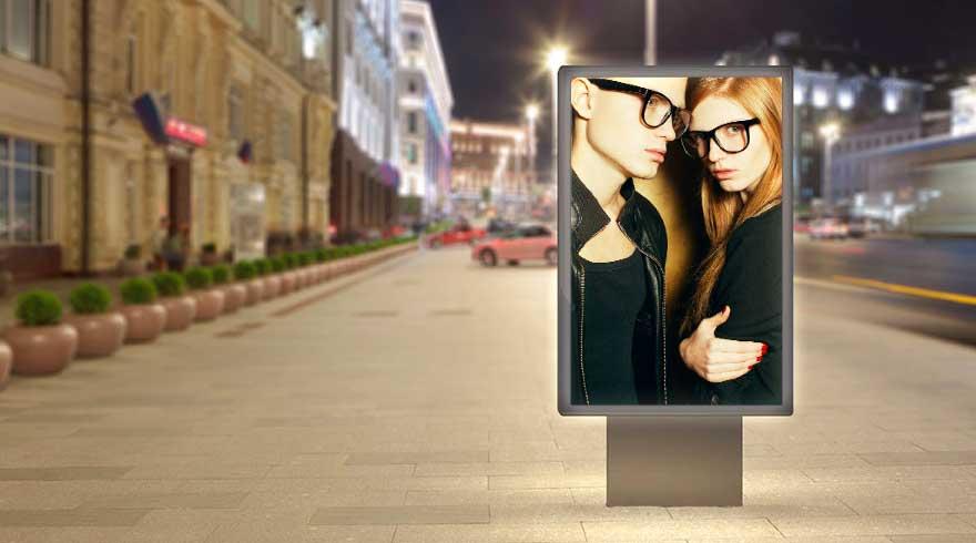 display LCD con elevato contrasto per utilizzo in ambiente esterni outdoor impianti pubblicitari visibili anche con il sole diretto